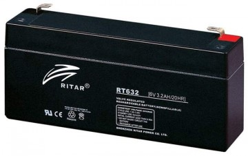 Ritar RT632 AGM Batteri 6V 3,2AH
